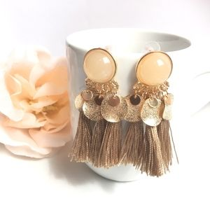 Boho Resin Tassel Drop Earrings